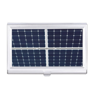 Image of a solar power panel funny case for business cards