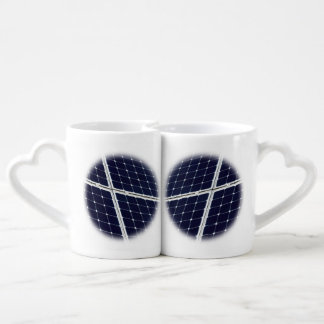 Image of a solar power panel funny coffee mug set