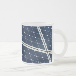 Image of a solar power panel funny frosted glass coffee mug