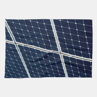 Image of a solar power panel funny kitchen towel