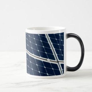 Image of a solar power panel funny magic mug
