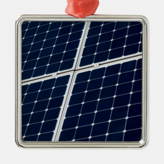 Image of a solar power panel funny metal ornament