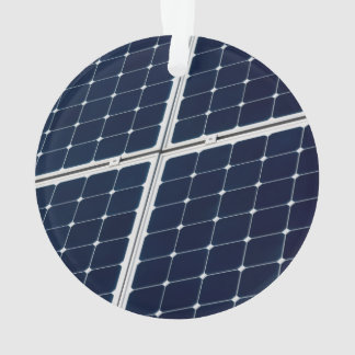 Image of a solar power panel funny ornament