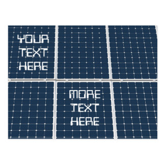 Image of a solar power panel funny postcard