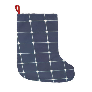 Image of a solar power panel funny small christmas stocking