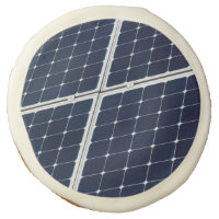 Image of a solar power panel funny sugar cookie
