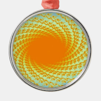 image of a sun metal ornament