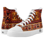 Image of a vintage carpet. Impressive texture High-Top Sneakers