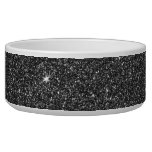 Image of Black and Grey Glitter Dog Water Bowls