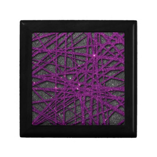 Image of black and purple stripe glitter gift boxes