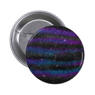 Image of Black Purple Blue Glitter Gradient Pinback Button