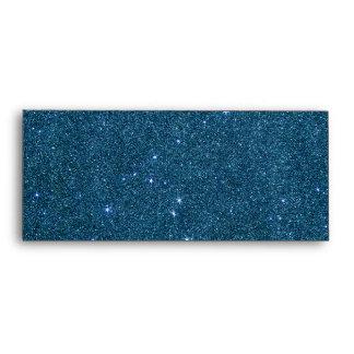Image of blue trendy glitter envelope