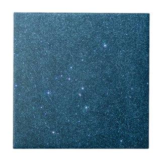 Image of blue trendy glitter ceramic tile