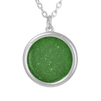 Image of Bright Green Glitter Necklaces