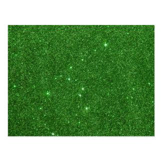 Image of Bright Green Glitter Postcard