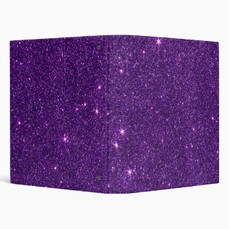 Image of Bright Purple Glitter Binder