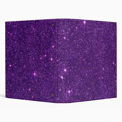 image of bright purple glitter binder