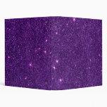 Image of Bright Purple Glitter Binders