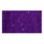 Image of Bright Purple Glitter Business Card Template