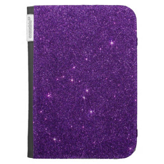 Image of Bright Purple Glitter Kindle 3 Cover