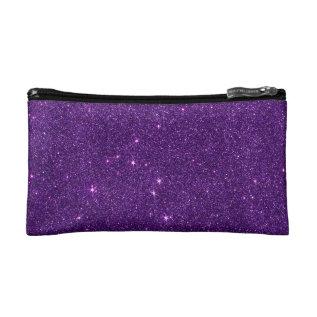 Image Of Bright Purple Glitter Cosmetic Bag at Zazzle