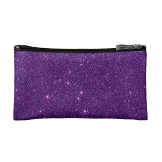 Image of Bright Purple Glitter Cosmetic Bag
