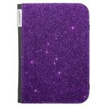 Image of Bright Purple Glitter Kindle 3 Cover