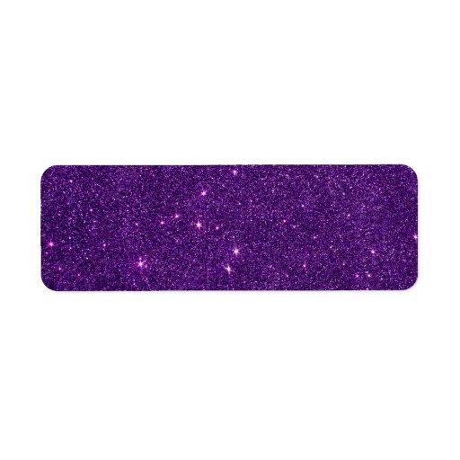 Image of Bright Purple Glitter Custom Return Address Labels