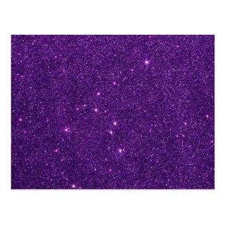 Image of Bright Purple Glitter Postcard
