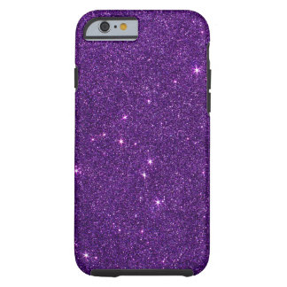 Image of Bright Purple Glitter Tough iPhone 6 Case