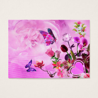 image of butterflies and flowers business card