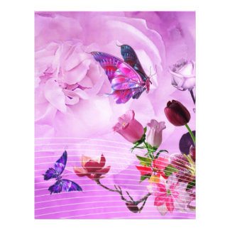 image of butterflies and flowers flyer