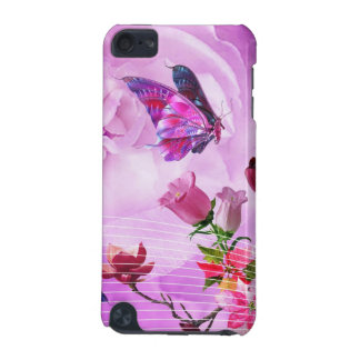image of butterflies and flowers iPod touch 5G cover