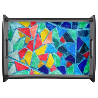 Image Of Colorful Mosaic Tiles Food Tray