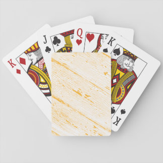Image of Cracked Paint in Yellow And White Poker Deck