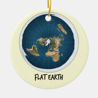 Image Of Flat Earth Ceramic Ornament