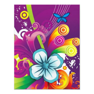 image of flower and butterfly card