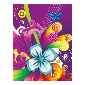 image of flower and butterfly custom flyer