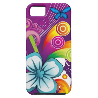 image of flower and butterfly iPhone SE/5/5s case