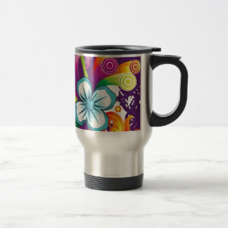 image of flower and butterfly travel mug