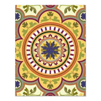image of flower in moisaico card
