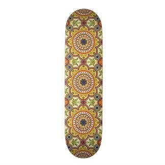 image of flower in moisaico skateboard