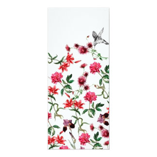 image of flowers and birds card