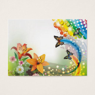 image of flowers and butterflies business card