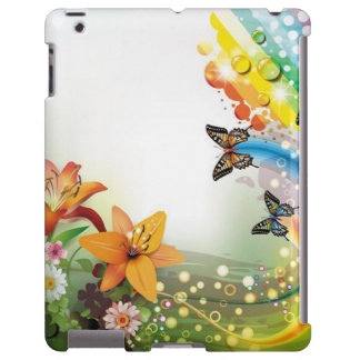 image of flowers and butterflies
