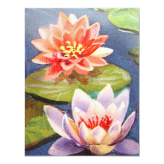 image of flowers in a lake card