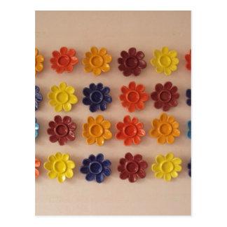 image of flowers in azuleijo postcard
