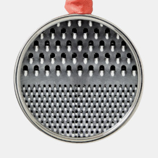 Image of Funny Cheese Grater Metal Ornament