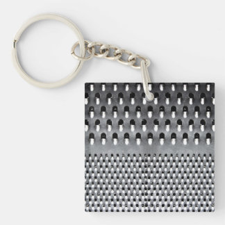 Image of Funny Cheese Grater Single-Sided Square Acrylic Keychain