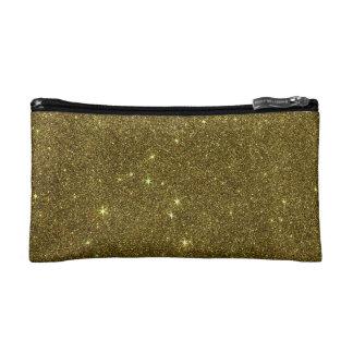 Image of gold Glitter Makeup Bag